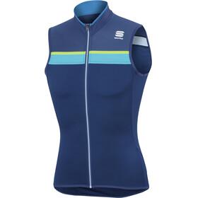 Sportful Pista Mouwloof Fietsshirt Heren blauw